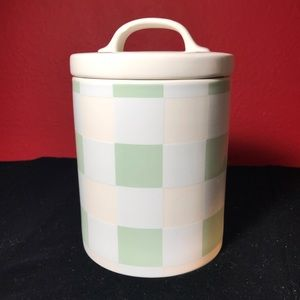 Bake Shop green & white gasket lined lid canister